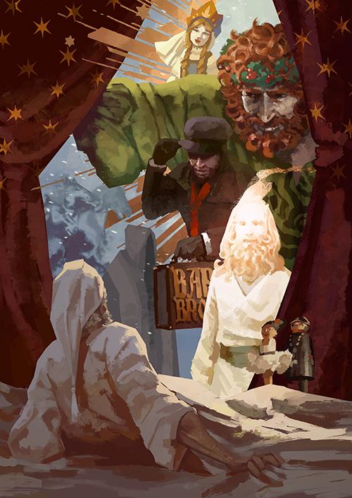 Affiche spectacle Contes pour Noël