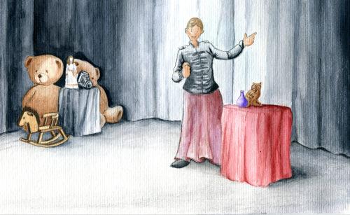 croquis scène spectacle- Contes pour Noel